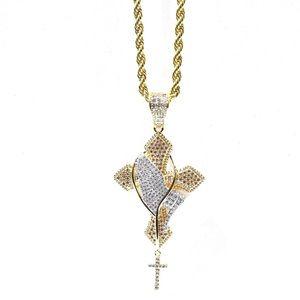 Other - Gold Finish Lab Diamond Pray Hand Rosary Charm Set